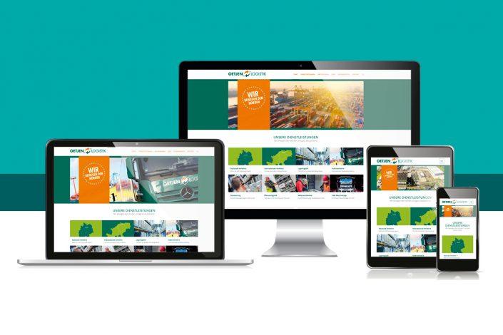 Webseite Oetjen Logistik