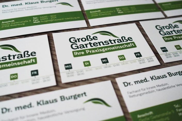 Große Gartenstraße Visitenkarte